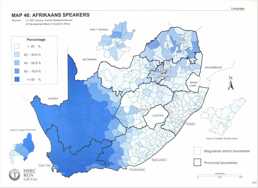 South African Languages Language distribution maps