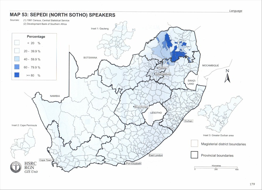 South African Languages | Language distribution maps